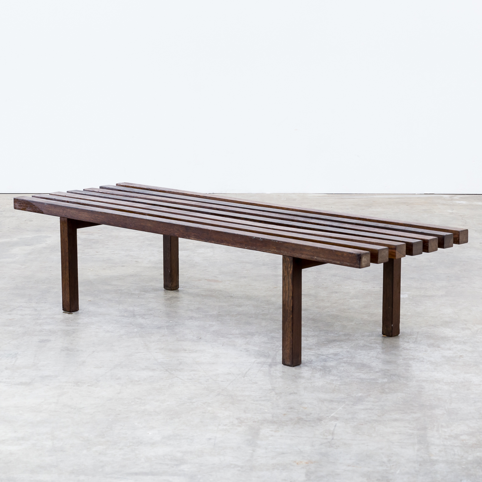 60s Weng Slatted Bench Museum Bench Barbmama