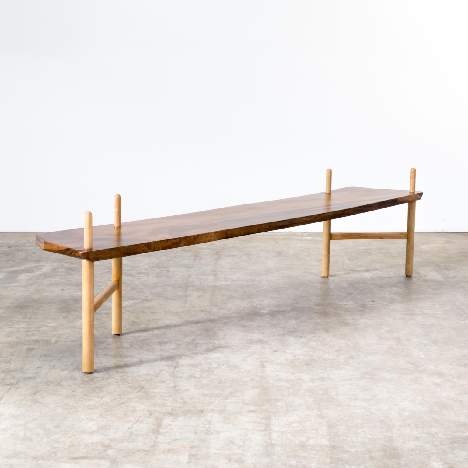 Beautiful Walnut Bench In The Style Of George Nakashima