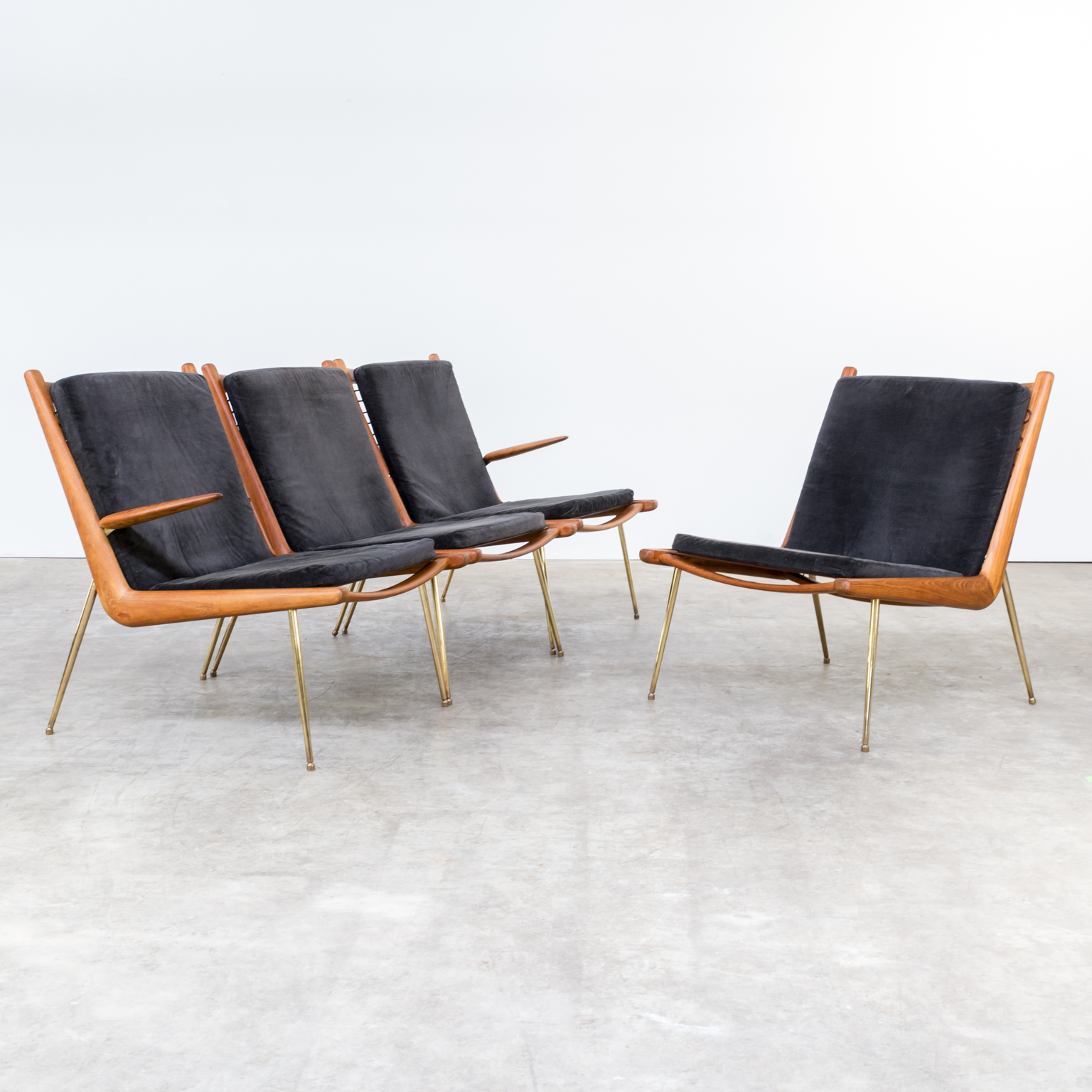 60s peter hvidt and orla m lgaard nielsen boomerang for Designer chairs from the 60s