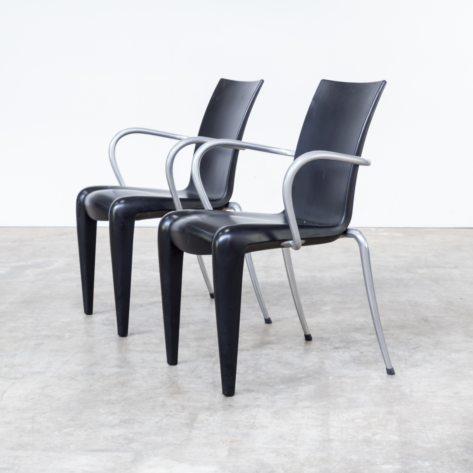 90s Philippe Starck Louis 20 Chairs For Vitra Set 4