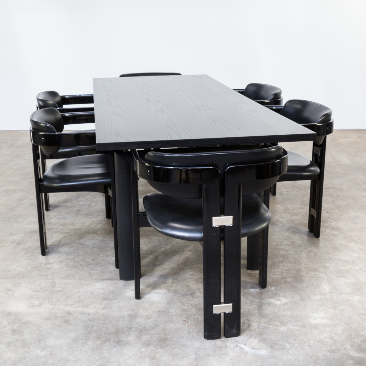 80s Le Corbusier LC6N nr 47905 dining table for Cassina | BarbMama