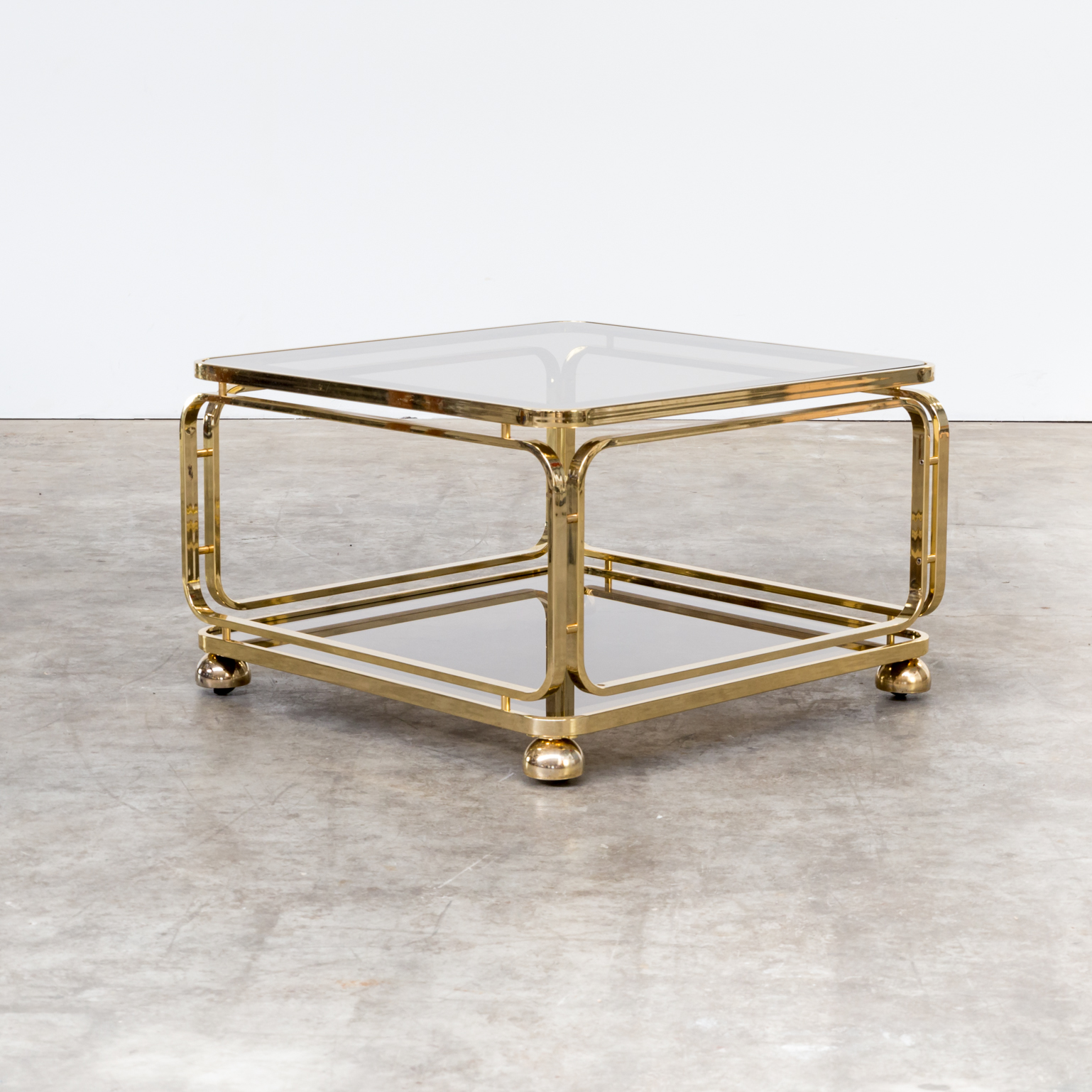 60s brass and glass coffee table side table for allegri for 60s coffee table