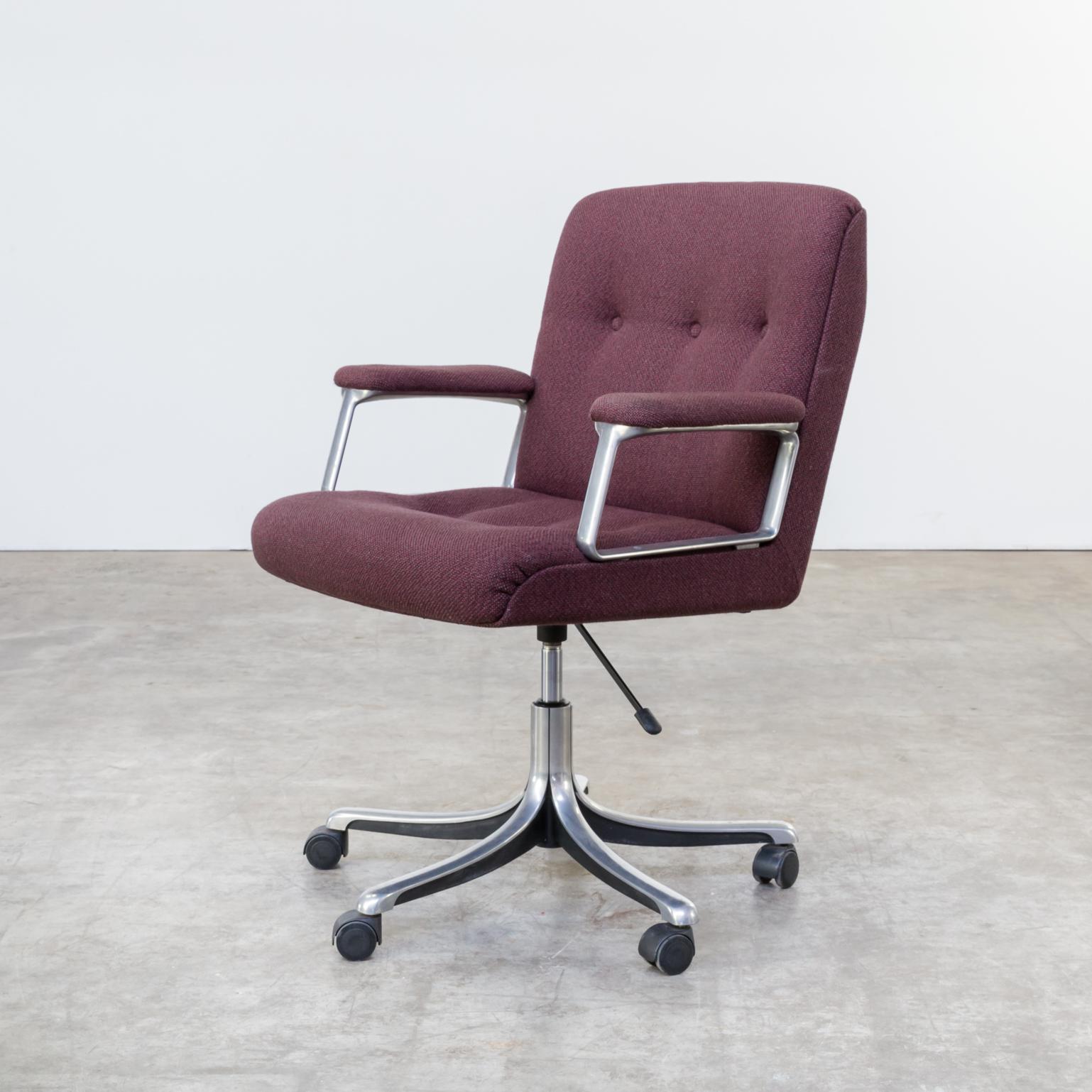 Mid Century Osvaldo Borsani P128 Swivel Desk Chair for Tecno