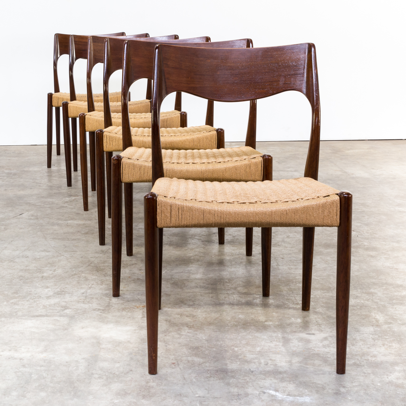 60s niels otto m ller model 71 dinner chairs for j l for 60s chair design