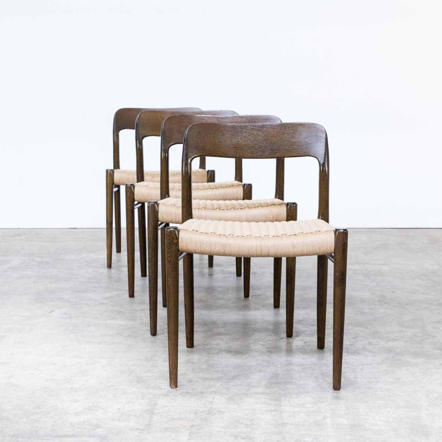 60s Niels O. Møller Model 75 Dining Chairs For J.L. Møller Set/4 | BarbMama