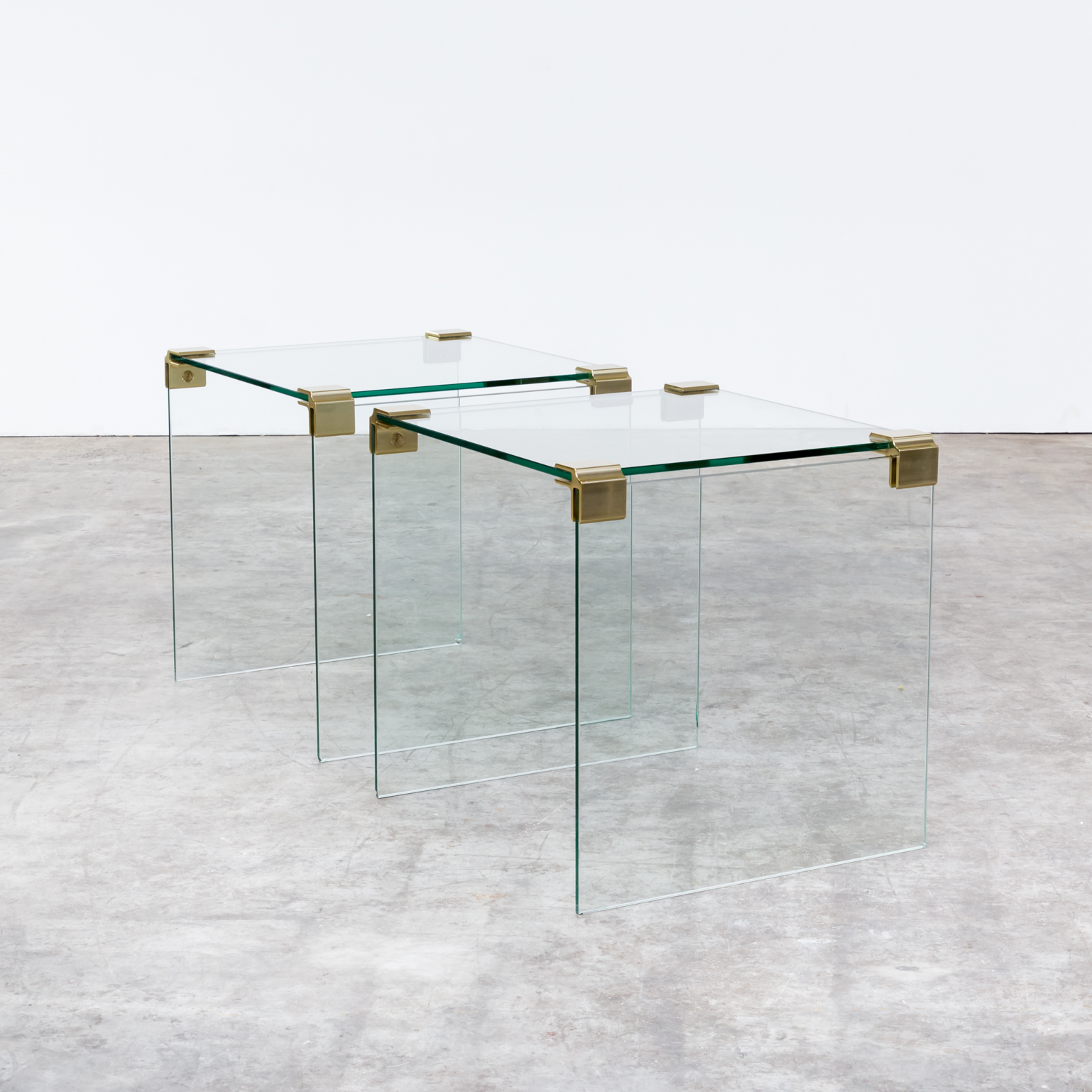 Coffee Table Sets Leons: Leon Rosen Side Table For Pace Collection Set/2