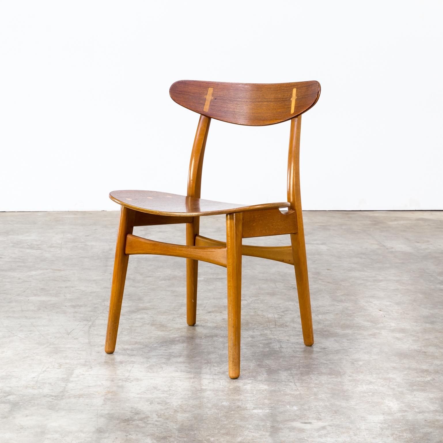 1950s hans wegner dining chairs ch 30 for carl hansen son set 6 barbmama. Black Bedroom Furniture Sets. Home Design Ideas