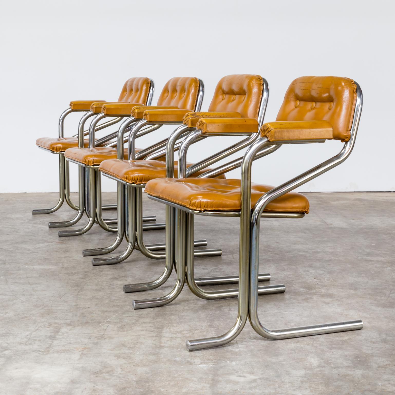 0306097ZST Tube Frame Dining Room Set Chair Vintage Retro