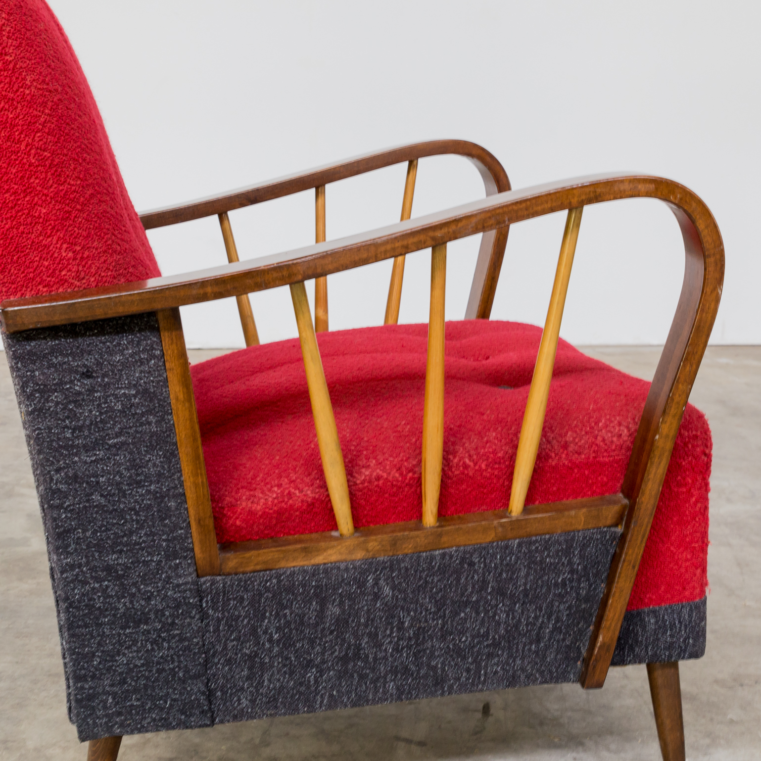 50s Classic Comfort Fauteuil Classic Lined Set 2 Barbmama