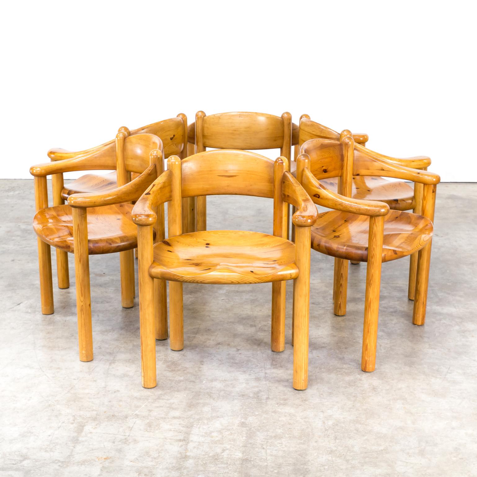 0422117ZST Rainier Daumiller Pine Chair Vintage Retro Design Barbmama