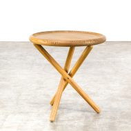 0522117TB-pine-side table-round-leather-rond-bijzettafel-vintage-retro-design-barbmama-3003