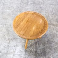 0522117TB-pine-side table-round-leather-rond-bijzettafel-vintage-retro-design-barbmama-7007
