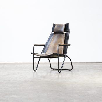 0414028ZF-fauteuil-metal frame-leather-vintage-retro-design-barbmama-1001