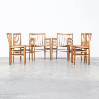 0614028ZST-jorgen baekmark-fdm mobler-dining chair-set-group-stoel-teak-papercord-vintage-retro-design-barbmama-2002