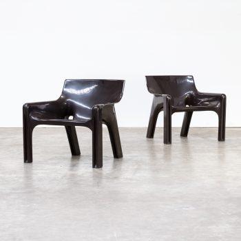 0807038ZF-vico magistretti-vicario-artemide-chair-fauteuil-lounge-dark brown-vintage-retro-design-barbmama-1001