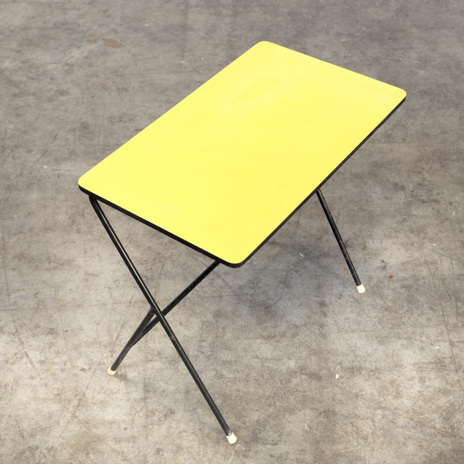 1021028tb Sidetable Metal Small Pilastro Yellow Vintage Retro