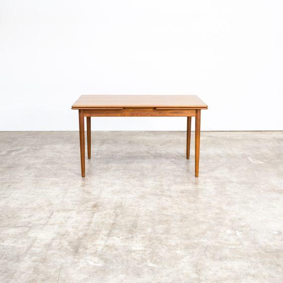 Teak Extendable Coffee Table: 60s Teak Extendable Dining Room Table