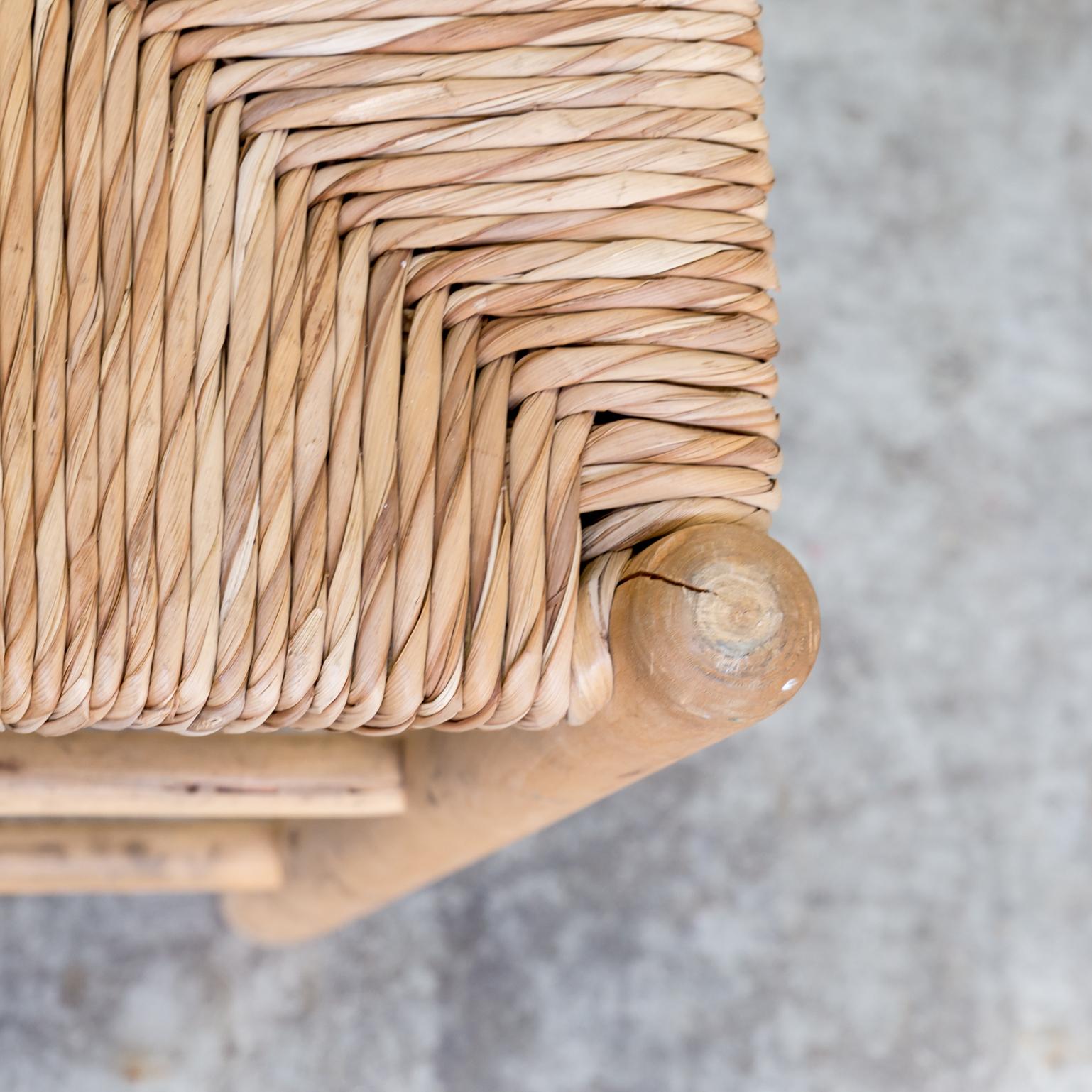 charlotte perriand stool wicker for l equipement de la. Black Bedroom Furniture Sets. Home Design Ideas