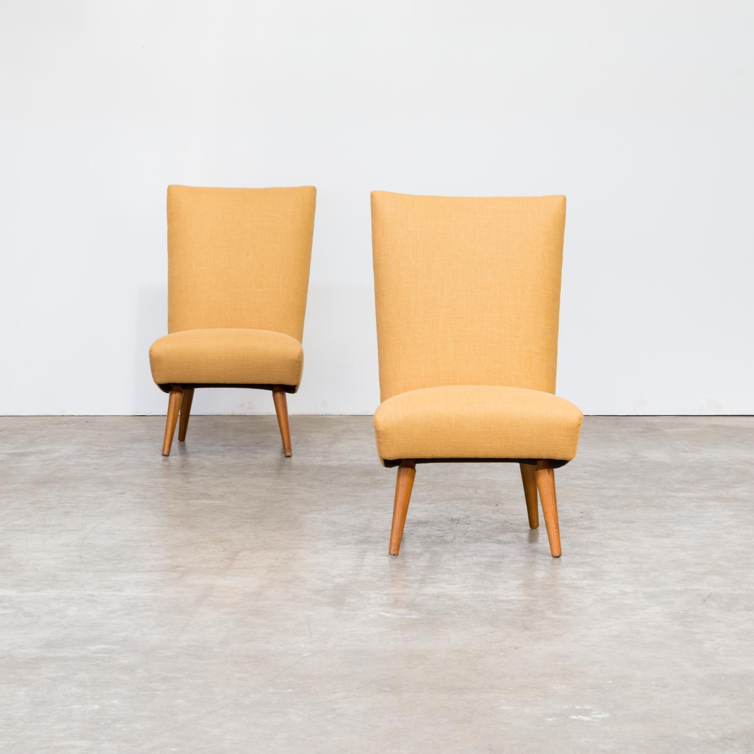Fauteuil Retro Design.50s G Van Os Beautiful Pair New Upholstered Fauteuils For Van Os Culemborg Set 2