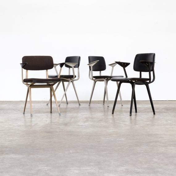 1964 Rare Friso Kramer Coffee Table For Ahrend De Cirkel: Lot Of 4 Individual Friso Kramer Office Chair For Ahrend