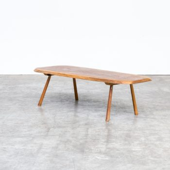mid century tree trunk coffee table in the manor of george nakashima