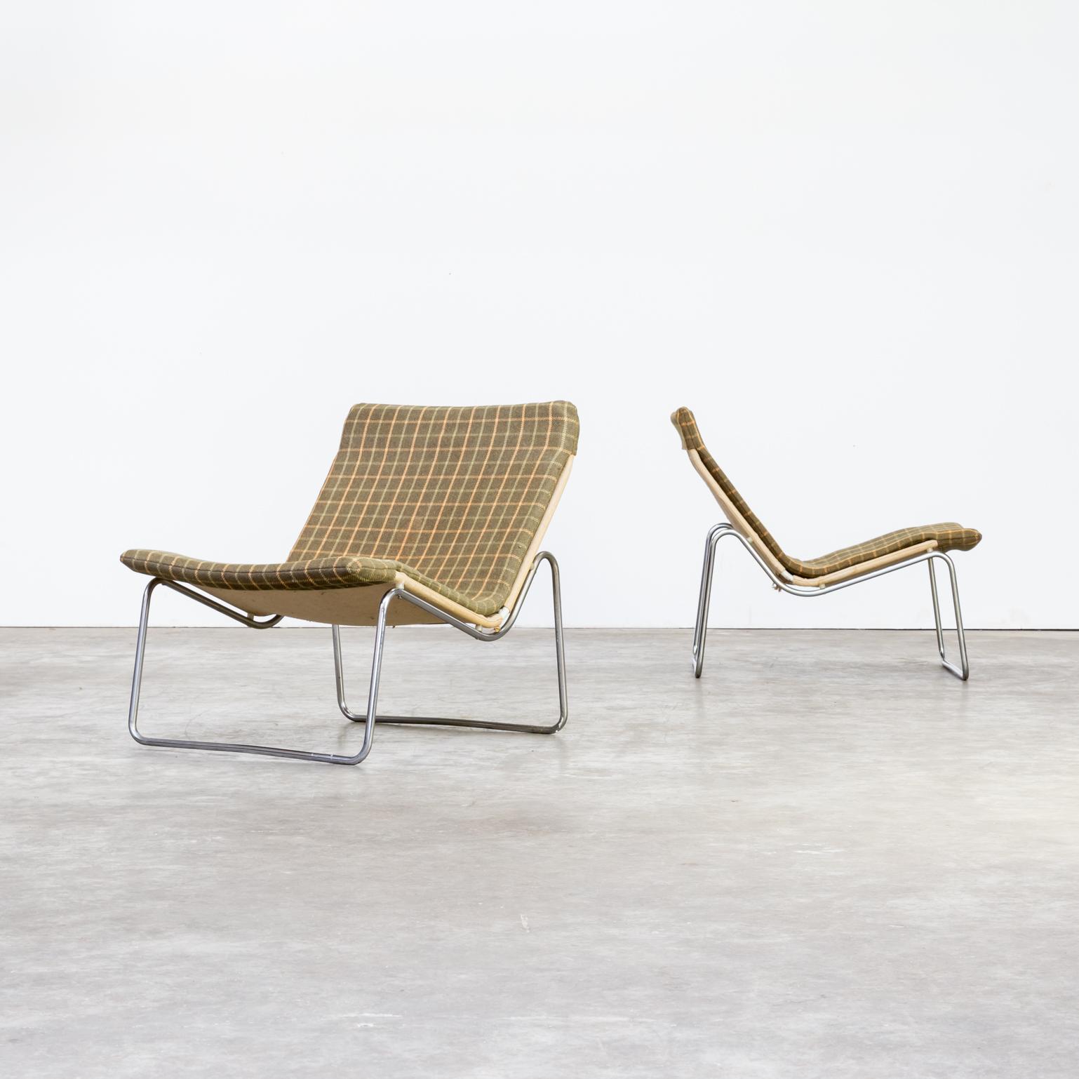 Fauteuil Retro Design.60s Scandinavian Design Low Fauteuil Set 2