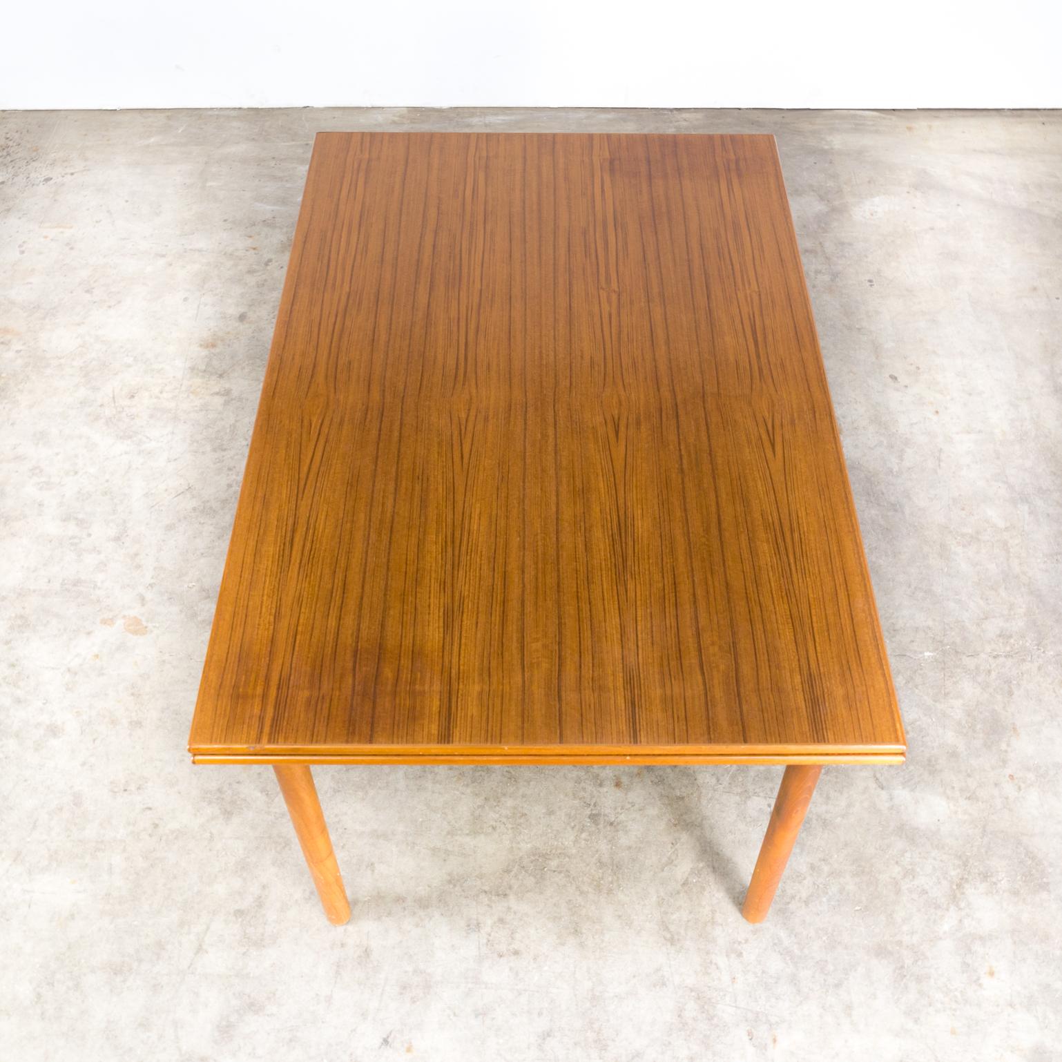 Teak Extendable Coffee Table: 60s Teak Extendable Dining Table