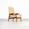 60s John Boné teak and wool adjustable lounge chair for Advance Design