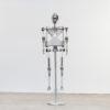 Decorative aluminium robot skeleton object