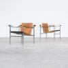 60s Le Corbusier 'LC1' fauteuils for Cassina set/2