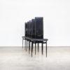 80s Italian design dining chair for Fasem set/5