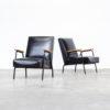 60s Pierre Guariche 'Rio' fauteuils for Meurop set/2