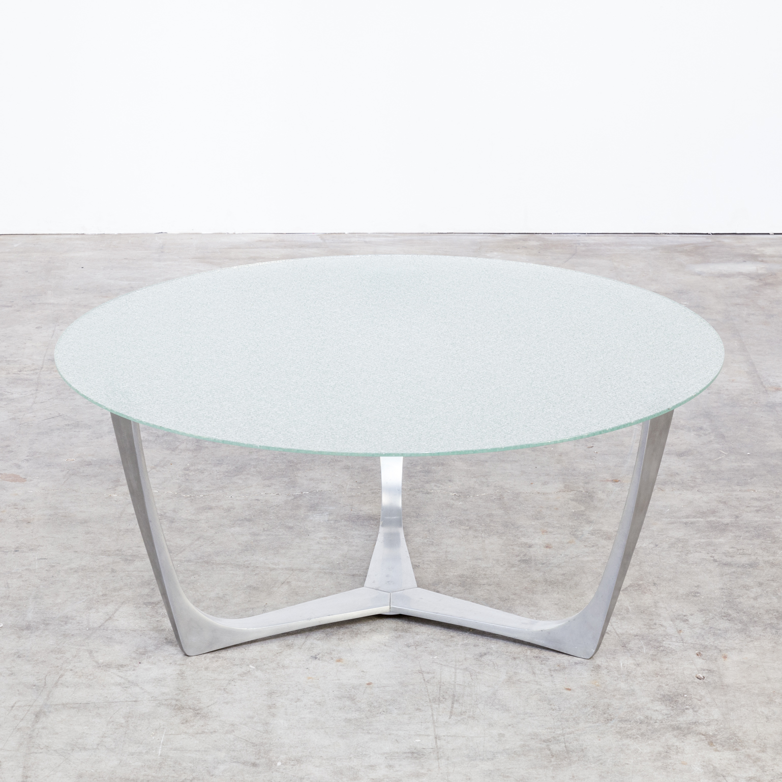 Wire Frame Coffee Table.80s Solid Aluminium Frame Coffee Table Wire Glass Tabletop